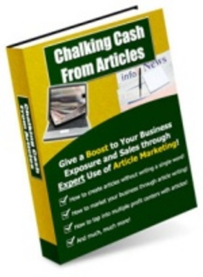 Product picture Chalking Getting cash from articles-Make money from website